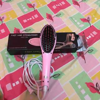 Fast hair straightener (color pink)