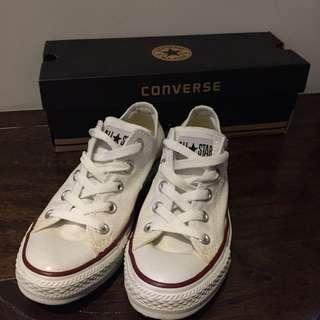 Converse all star 經典帆布鞋 白色 女版
