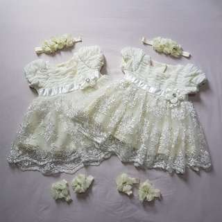 Beautiful Twins Dress | Baby Girl Dress | Flower Girl Dress | Akikah Dress |