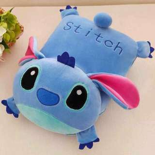 Stitch 2 in 1 Pillow That Turns into Blanket/ Sheets with Pillow
