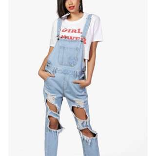 Distressed Mom Dungarees OPEN TO OFFERS