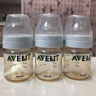 Avent 4oz bottle set of 3