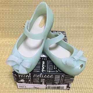 SALE ‼️‼️ S$65 BN Mini Melissa Ultragirl Bow II Green Shoes US9 (2016)
