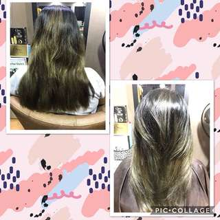 Hair Dye Refresh and Layered Cut