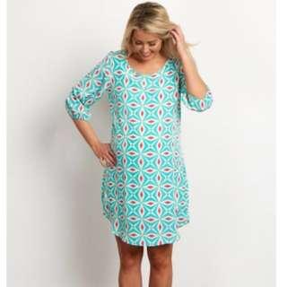 Worn once Pink Blush Maternity Geometric dress size small