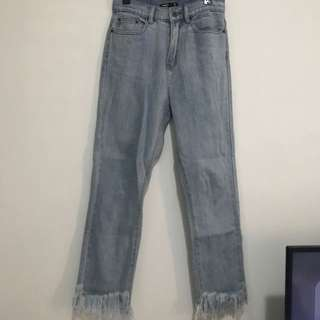 Glassons Frayed Hem Girlfriend Jeans