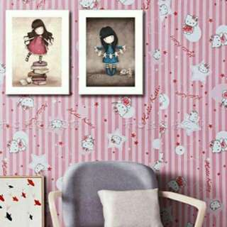 wallpaper sticker hello kitty 10meter