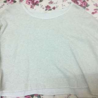 韓系寬短版棉質上衣