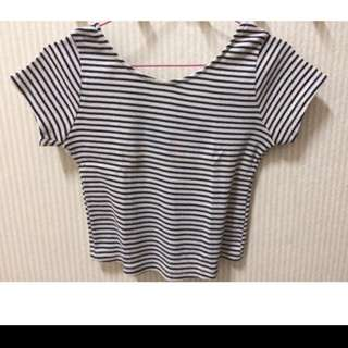 Crop top stripe zara
