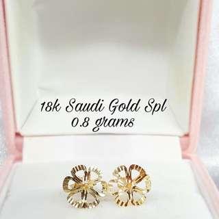 SALE! 18K SAUDI GOLD EARRINGS