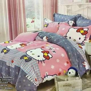 4in1 Queen size  ⚛️2 pillowcases 1 bedsheet 1 blanket