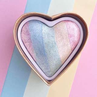 Unicorn Hearts Rainbow Highlighter [Mailed]