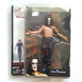 NECA THE CROW ERIC DRAVEN CULT CLASSICS HALL OF FAME W FLAMING CROW BASE MOC!