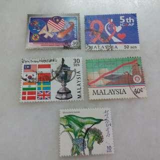 Malaysia Stamps 5 V #111