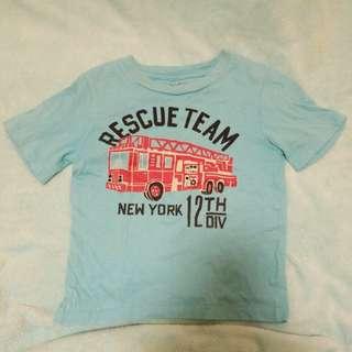 Baby gap rescue team fire truck t shirt