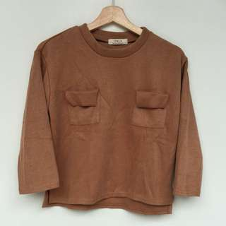 Women's top with pockets, blouse wanita, Women's crop top