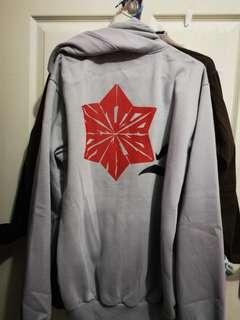 Jaket Hoodie Jumper Grey (Size L-XL)