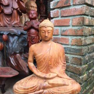 Wooden Buddha Statue in Nepal style