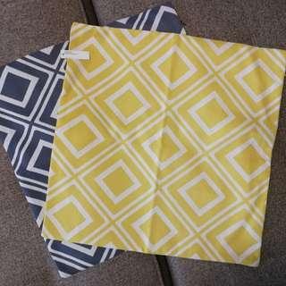 Diamond design throw pillowcase