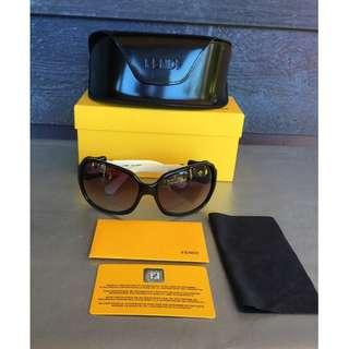 Rare Genuine Fendi Buckle Black/White Sunglasses