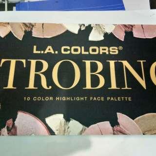 LA Colors Strobing 10 pc Color Highlight Face Palette