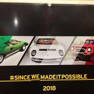 🚚 Lamborghini 藍寶堅尼 2018年限量紀念月曆