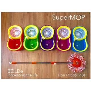 Pel Otomatis Super Mop Spinmop Bolde M169X+ Original