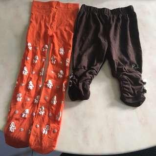 幼兒長褲、leggings 2pcs