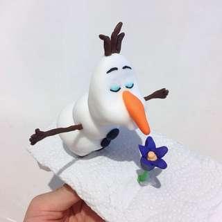 Customized Olaf cake or cupcake fondant topper