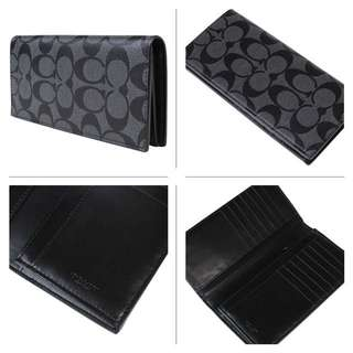 💝Sale Coach mens bifold long wallet