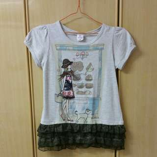 Girls top with lace