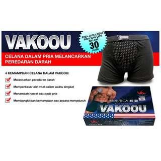 Celana Vakoou Magnetik USA Pembesar Alat Vital Pria Tanpa Obat