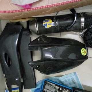 Carbon fiber hugger n swingarm