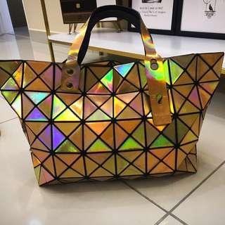 Gold Lattice Bag