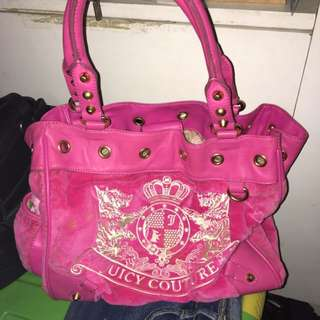 AUTHENTIC JUICY COUTURE Fuchsia hand bag