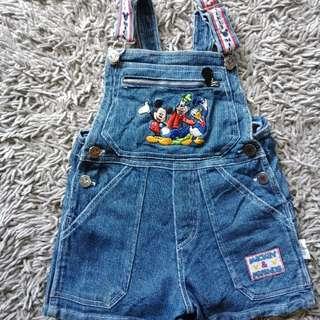 Baju over all anak
