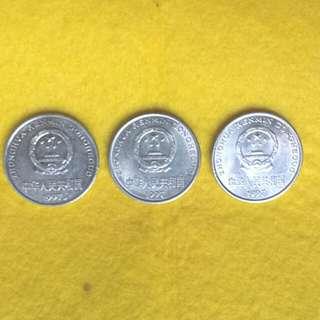 1997人民幣一元×3