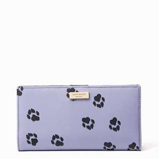 Kate Spade Light Blue with Paw Prints design wallet