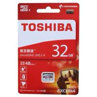 Micro SDHC UHS-I Card 32GB TOSHIBA 香港行貨