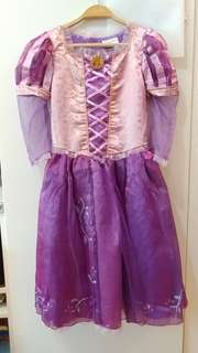 99%New Disney Rapunzel 長髪公主裙 連 長髪公主閃燈權杖
