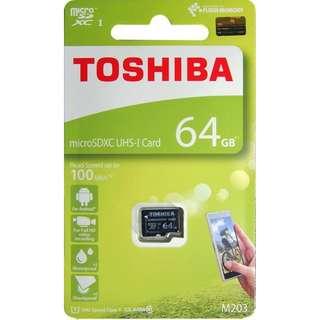 Micro SDXC ICard 64GB TOSHIBA 香港行貨