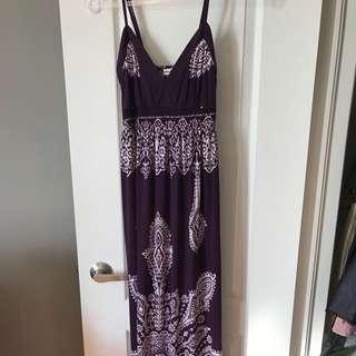 Purple summer maxi dress