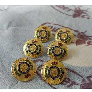 Royal Engineers 英國皇家工程師 Medium size Buttons 袖口鈕