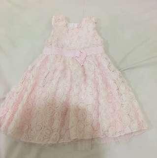 Baby Pink Rose Dress