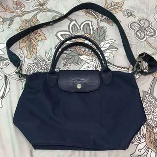 Longchamp Neo Navy Size Small