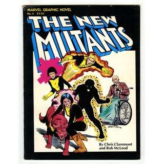 Marvel Comics Graphic Novel #4 The New Mutants 1st Appearance VF- Copper Age Key HOT!!!