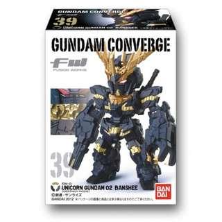 BANDAI FW GUNDAM CONVERGE VOL. 7 RX-0 UNICORN GUNDAM 02 BANSHEE FIGURE VERY RARE