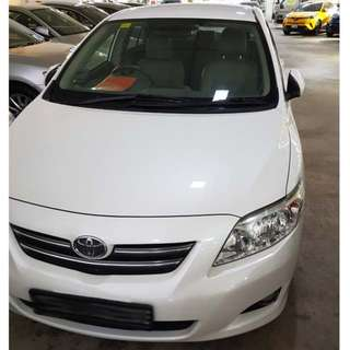 Car Rental for Grab Driving/Uber Driving - Corolla Altis 1.6 Auto