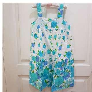 Girl's Dress Anak 5-6tahun Flower Blue