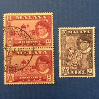 Malaya 1960 Johore Defi 3V Used (M1089)